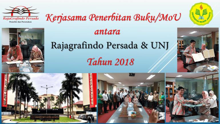 Kerjasama Penerbitan Buku/MoU antara Rajagrafindo Persada & UNJ