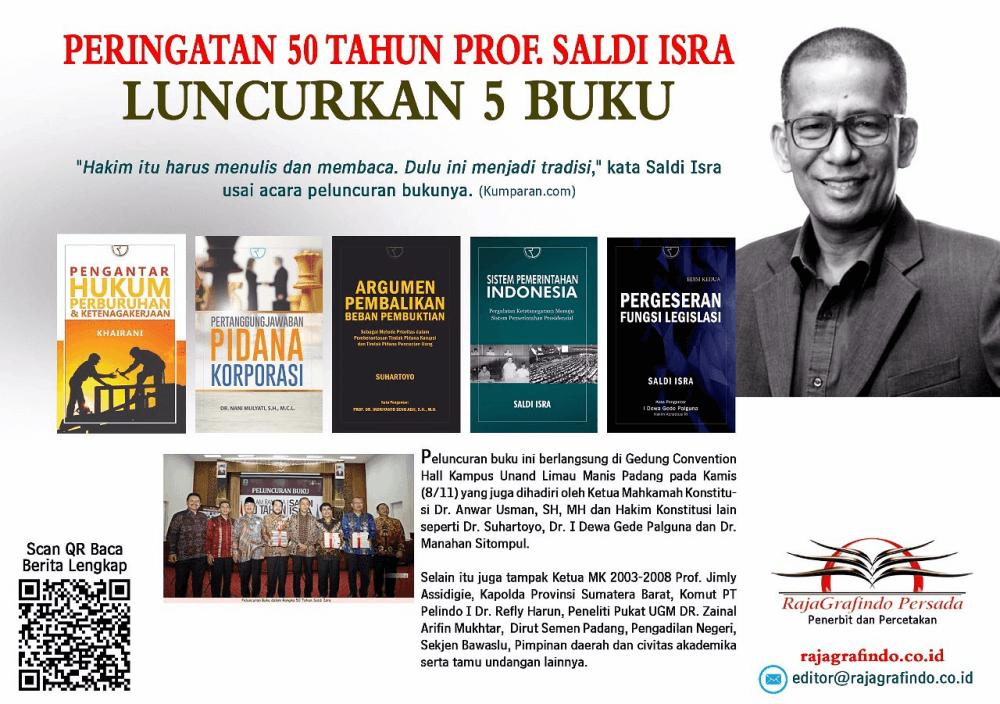 Peluncuran Buku dalam Rangka 50 Tahun Saldi Isra